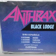 CDs de Música: ANTHRAX- BLACK LODGE- SPANISH PROMO CD SINGLE 1993.. Lote 41297136