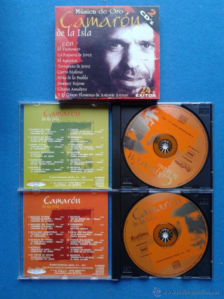 CAMARON DE LA ISLA - 2 CD'S - MUSICA DE ORO - 24 EXITOS (Música - CD's Flamenco, Canción española y Cuplé)