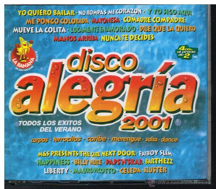 DISCO ALEGRÍA 2001 - 4 CDS 2001 (Música - CD's Disco y Dance)