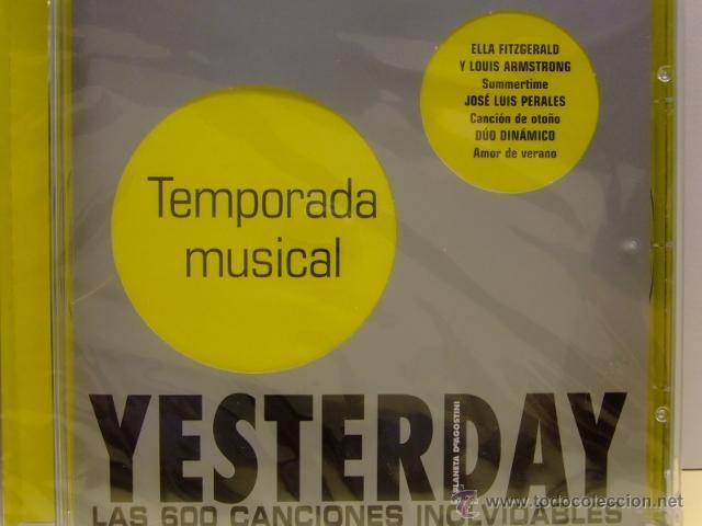 CDs de Música: CD MUSICA YESTERDAY (colec. de planeta)12 TEMPORADA MUSICAL- Miguel Rios - Ella Fitzgerald + otros - Foto 2 - 41516332