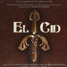 CDs de Música: B.S.O. ORIGINAL * EL CID * (SPECIAL LIMITED 3 CD´S). MIKLÓS RÓZSA. DESCATALOGADA. PRECINTADA. Lote 26016355