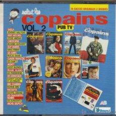 CDs de Música: SALUT LES COPAINS-JOHNNY HALLYDAY, SYLVIE VARTAN, CHRISTOPHE, SURFS, NICOLETTA CD DOBLE. Lote 41667944