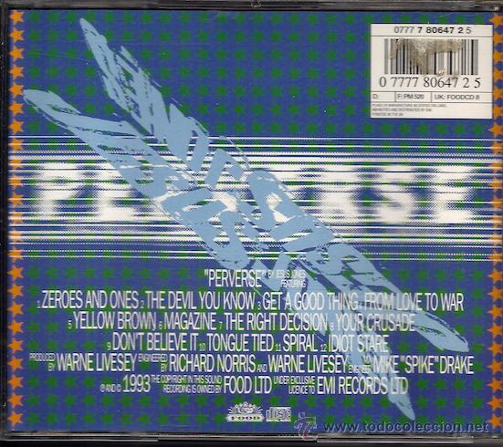 CDs de Música: Jesus Jones - Perverse (CD) - Foto 2 - 41698564