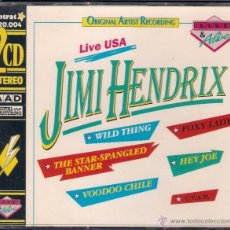 CDs de Música: JIMI HENDRIX - LIVE USA - 2 CD IMTRAT 1991 NO OFICIAL 2 HORAS Y SIETE MINUTOS.. Lote 41710266
