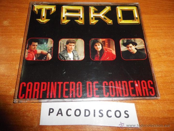 TAKO CARPINTERO DE CONDENAS CD SINGLE DEL AÑO 1993 PORTADA DE PLASTICO 1 TEMA HEAVY METAL RARO (Música - CD's Heavy Metal)