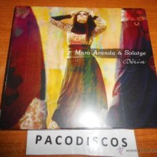 CDs de Música: MARA ARANDA & SOLATGE DERIA CD ALBUM DIGIPACK PRECINTADO WORLD MUSIC MUSICA DE LA CORONA DE ARAGON. Lote 41734340