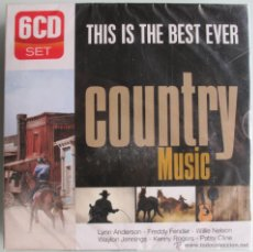 CDs de Música: THIS IS THE BEST EVER COUNTRY MUSIC 6CD 'S - FREDDY FENDER - WILLIE NELSON - KENNY ROGERS - NUEVO. Lote 42126395