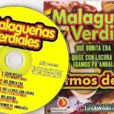 CDs de Música: MALAGUEÑAS Y VERDIALES - ANTONIO EL FLECHA / MANOLO CARACOL / VICTORIANO DE MÁLAGA / ARTURO PAVÓN / . Lote 42132092