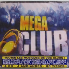 CDs de Música: MEGA CLUB - EARTH WIND FIRE / LOU BEGA / GLORIA GAYNOR / TOTO CUTUGNO / SABRINA - 4 CD 'S - NUEVO. Lote 42139309
