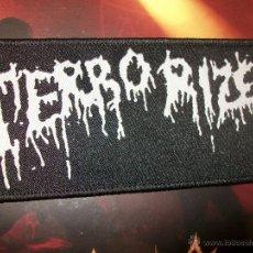 CDs de Música: PATCH - TERRORIZER - LOGO – EARACHE - GRIND DEATH METAL – NAPALM DEATH. Lote 42173760