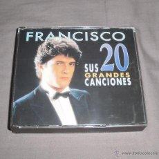 CDs de Música: CD. FRANCISCO - SUS 20 GRANDES CANCIONES. 1996, POLYGRAM IBÉRICA, DISCO DOBLE, LATINO. Lote 49992276