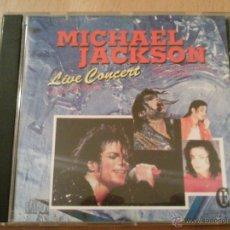 CDs de Música: MICHAEL JACKSON LIVE CONCERT NONSTOP MEDLEY CD NO OFICIAL. Lote 42211693