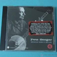 CDs de Música: PETE SEEGER. AMERICAN FAVORITE BALLADS. Nº 4. Lote 42295833