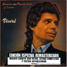 CDs de Música: CAMARÓN CON PACO DE LUCÍA Y TOMATITO * CD * VIVIRÉ * LTD REMASTERIZADO * PRECINTADO. Lote 42318329