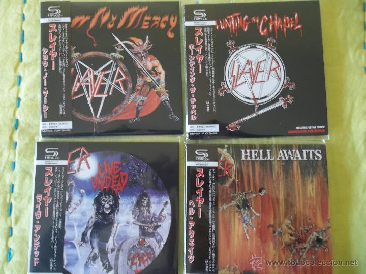 SLAYER SHOW NO MERCY HAUNTING THE CHAPEL HELL AWAITS LIVE UNDEAD (Música - CD's Heavy Metal)