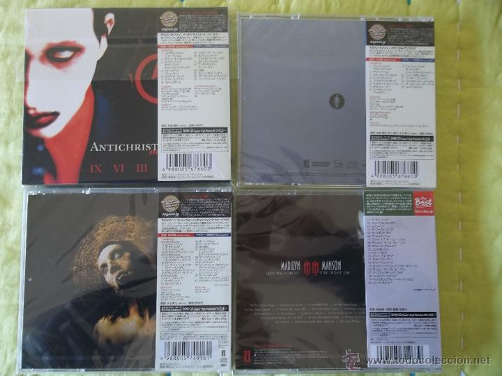 CDs de Música: MARILYN MANSON ANTICHRIST SUPERSTAR MECHANICAL ANIMALS HOLLYWOOD BEST AND FORGET 4 S.H.M. CD - Foto 2 - 42326074