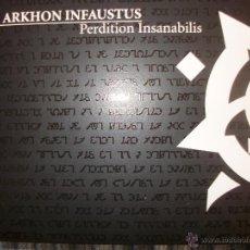CDs de Música: CD DIGIPACK ARKHON INFAUSTUS – PERDITION INSANABILIS – BLACK METAL – LIMITED EDITION 3000. Lote 42363188