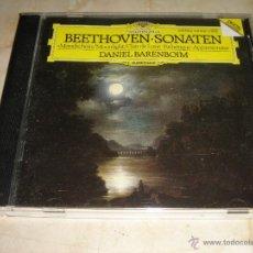 CDs de Música: LUDWIG VAN BEETHOVEN / SONATES NO.14,8,23 / DANIEL BARENBOIM / DEUTSCHE GRAMMOPHON / CD. Lote 42394488