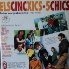 CDs de Música: ELS CINC XICS / 5 CHICS - TODAS SUS GRABACIONES 1967-1983 - EDICIÓN DE 2001 DE ESPAÑA - DOBLE. Lote 42421675