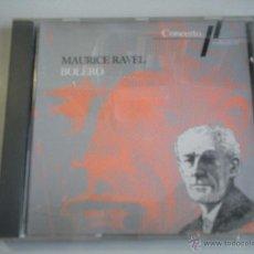 CDs de Música: MAGNIFICO CD DE MAURICE - RAVEL - BOLERO -. Lote 42559537