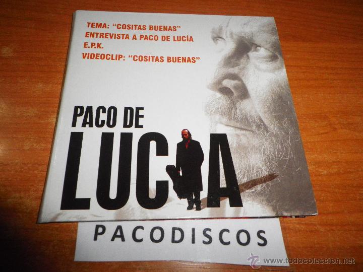 PACO DE LUCIA COSITAS BUENAS CD SINGLE PROMO 1 TEMA + ENTREVISTA + PISTA INTERACTIVA + VIDEOCLIP EPK (Música - CD's Flamenco, Canción española y Cuplé)