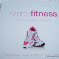 CDs de Música: SIMPLYFITNESS 4 CD'S OF ESENTIAL FITNESS MUSIC. Lote 42693714