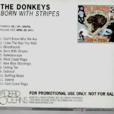 CDs de Música: THE DONKEYS * CD * BORN WITH STRIPES * ALBUM PROMOCIONAL * MUY RARO. Lote 42683762