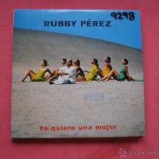 CDs de Música - CD SINGLE PROMO CARTON - RUBBY PEREZ - YO QUIERO UNA MUJER - 42824652