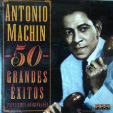 CDs de Música: ANTONIO MACHÍN - 50 GRANDES EXITOS - EDICIÓN DE 1995 DE ESPAÑA - DOBLE. Lote 42858420