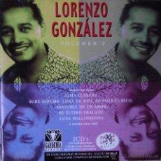 CDs de Música: LORENZO GONZÁLEZ - VOL. 2 - EDICIÓN DE 2003 DE ESPAÑA - DOBLE. Lote 42859111
