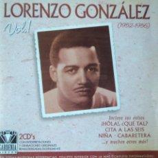 CDs de Música: LORENZO GONZÁLEZ - 1952-1956 VOL. 1 - EDICIÓN DE 2002 DE ESPAÑA - DOBLE. Lote 42859212