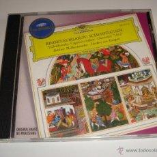CDs de Música: RIMSKY-KORSAKOV (SCHEHERAZADE), TCHAIKOVSKY (CAPRICCIO ITALIEN, OVERTURE 1812) / HERBERT VON KARAJAN. Lote 42868346
