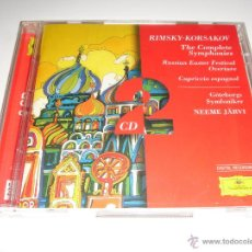 CDs de Música: RIMSKY-KORSAKOV / SINFONÍAS (COMPLETAS), OVERTURA GRAN PASCUA RUSA, CAPRICHO ESPAÑOL / NEEME JARVI. Lote 42891879