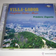 CDs de Música: HEITOR VILLA-LOBOS / COMPLETE GUITAR MUSIC / FRÉDÉRIC ZIGANTE / BRILLIANT CLASSICS / 2 CD. Lote 42892061