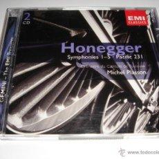 CDs de Música: ARTHUR HONEGGER / SINFONÍAS 1-5, PACIFIC 231 / MICHEL PLASSON / EMI CLASSICS / 2 CD. Lote 42892107