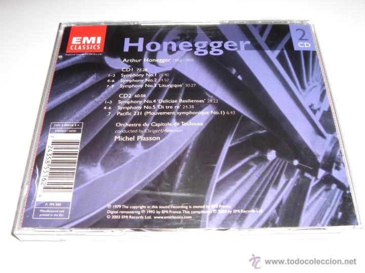 CDs de Música: ARTHUR HONEGGER / Sinfonías 1-5, Pacific 231 / Michel Plasson / EMI CLASSICS / 2 CD - Foto 2 - 42892107