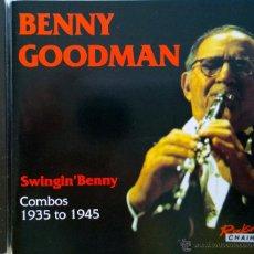 CDs de Música: BENNY GOODMAN- SWING' BENNY-COMBOS 1935 TO 1945-18 TRACKS. Lote 42935741