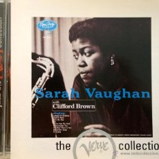 CDs de Música: SARAH VAUGHAN WITH CLIFFORD BROWN (TROMPET)-RECORDED DECEMBER 16&18, 1954, NEW YORK-10 TRACKS. Lote 42935988