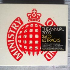 CDs de Música: CD TRIPLE-THE ANNUAL 2003-MINISTRY OF SOUND. Lote 42948561