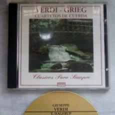 CDs de Música: VERDI - GRIEG / CUARTETOS DE CUERDA / CD. Lote 43050358