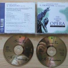 CDs de Música: GIUSEPPE VERDI IL TROVATORE THE TROUBADOUR THE GRAND OPERA COLLECTION CD. Lote 43056291