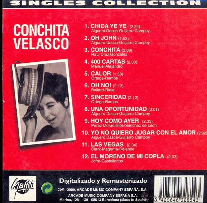 CDs de Música: CONCHA VELASCO SINGLES COLLECTION CD DIGIPACK - Foto 2 - 43057539