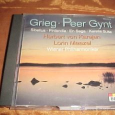 CDs de Música: EDVARD GRIEG. JEAN SIBELIUS. EDICION ALEMANA. Lote 43058209