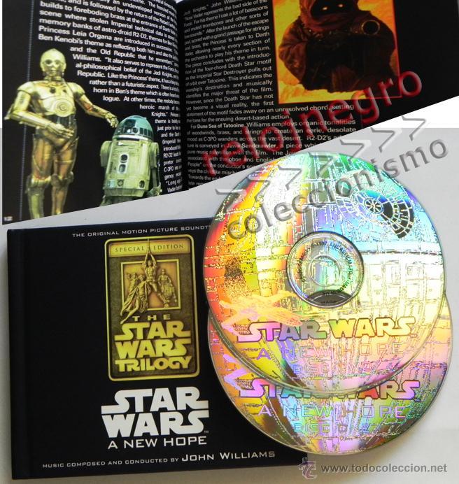 STAR WARS A NEW HOPE CD LIBRO EDICIÓN ESPECIAL BSO MÚSICA CINE JOHN WILLIAMS GUERRA DE LAS GALAXIAS (Música - CD's Bandas Sonoras)