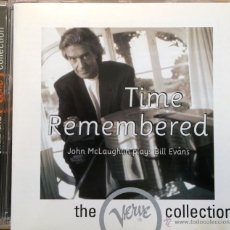 CDs de Música: JOHN MCLAUGHLIN PLAYS BILL EVANS- TIME REMEMBERED. Lote 43171765