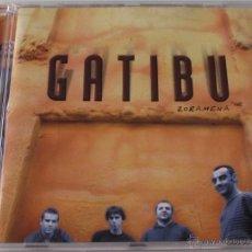 CDs de Música: GATIBU - ZORAMENA - CD - OIHUKA PC 314 - ROCK VASCO - PLATERO Y TU / EXTREMODURO - N MINT. Lote 47096077
