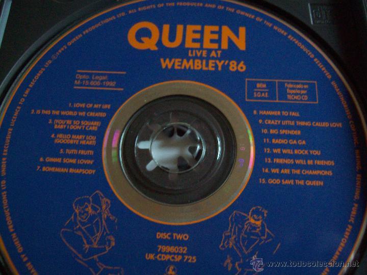 CDs de Música: CD's QUEEN Live at Wembley'86 - Foto 4 - 43223960