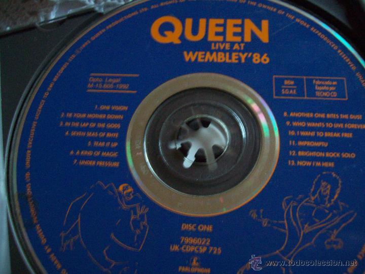 CDs de Música: CD's QUEEN Live at Wembley'86 - Foto 5 - 43223960
