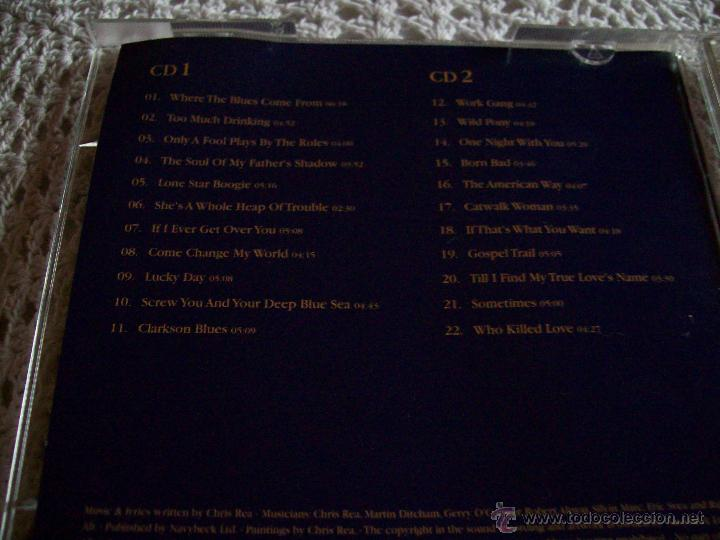 CDs de Música: Chris Rea Blue Guitars A Collection of Songs - Foto 4 - 43279073