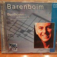 CDs de Música: DANIEL BARENBOIM. BEETHOVEN. SINFONÍA Nº 9. BERLINER STAATSKAPELLE. CD - CALIDAD LUJO.. Lote 43376809